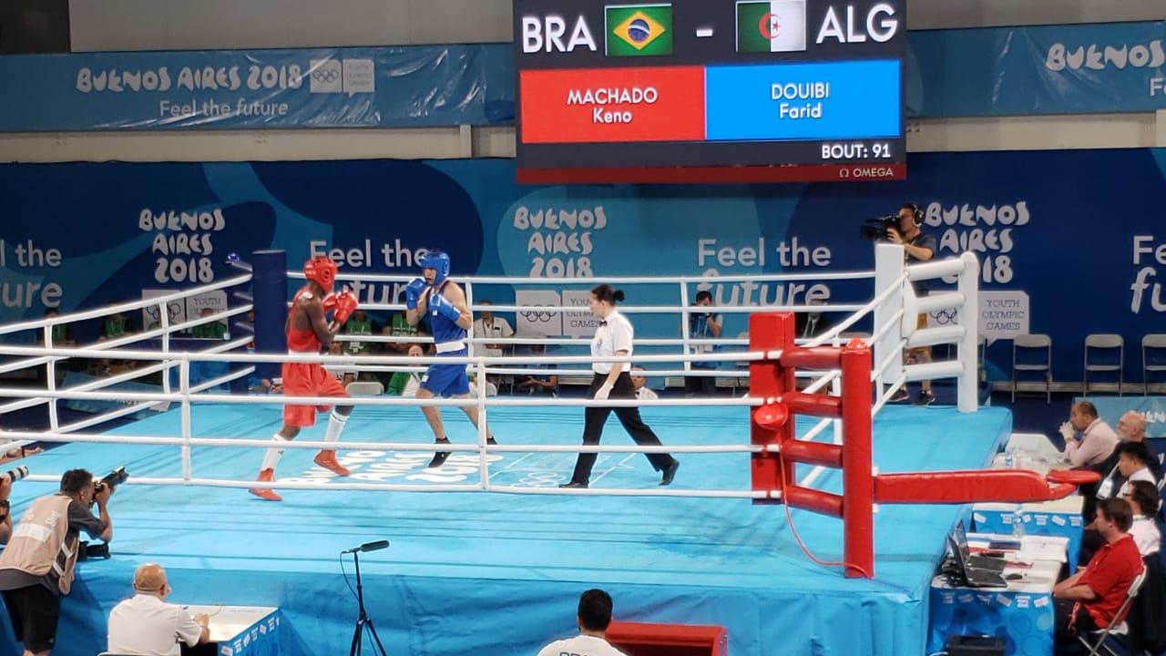 É o primeiro ouro do boxe e o primeiro ouro da delegação nacional na  competição. 09ec011c520c5