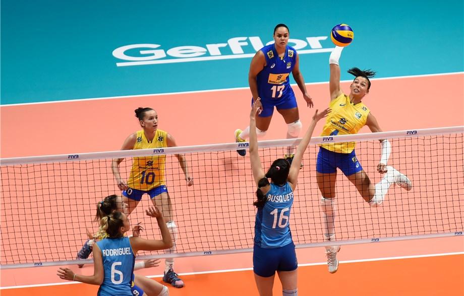 Brasil Arrasa Argentina E Embala Na Liga Das Nacoes De Volei Feminino Rede Do Esporte